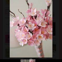 Pink cherry blossom bouquet