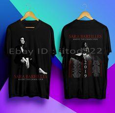 New SARA BAREILLES Amidst The Chaos Tour 2019 Black T Shirt Size S-5XL