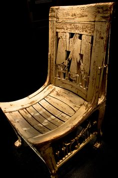 Chair from Tutankhamun's tomb | Egyptian Museum, Cairo