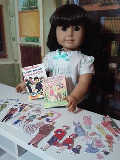 Jinjia Mixed Goods: American Girl Dolls with an Asian Flair: Books for Maryellen (Free book and paper doll printables)