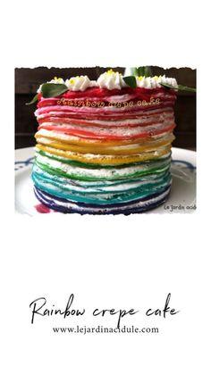Rainbow crepe cake, gâteau de crêpes arc-en-ciel - www.lejardinacidule.com