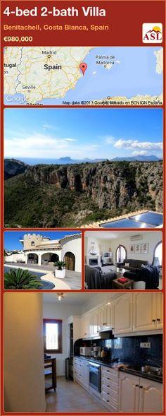4-bed 2-bath Villa in Benitachell, Costa Blanca, Spain ►€980,000 #PropertyForSaleInSpain