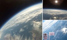 Homemade space balloon captures images above the Scottish highlands