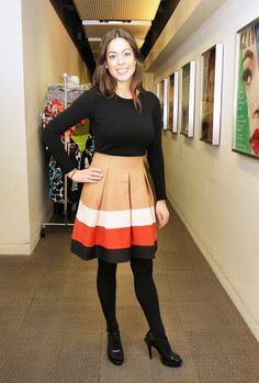 Love this perfect stripes at the office look spotted at #glamour #officestyle