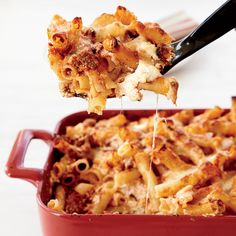 Speedy Baked Ziti - There's a trick to this recipe that makes it the fasted way to really good baked ziti. Wine Recipes, Pasta Recipes, Cooking Recipes, Cheese Recipes, Cooking Ideas, Easy Dinner Recipes, Great Recipes, Favorite Recipes, Dinner Ideas
