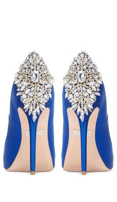 OMG ...These shoes! #somethingblue #ad