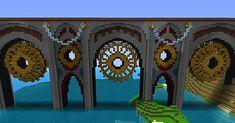Dragon's End Pier Minecraft Map Minecraft Bridges, Minecraft Building Guide, Minecraft Statues, Minecraft City Buildings, Minecraft Medieval, Minecraft Plans, Minecraft Architecture, Minecraft Blueprints, Minecraft Designs