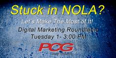 If you could not make it out of New Orleans because of the storm, turn the inconvenience into an opportunity.  Join the Digital Marketing Roundtable hosted by Brian Pasch.  Call Carrie Hemphill for details at 908-601-6475.  http://www.brianpasch.com/digital-marketing-roundtable-post-nada-new-orleans-freeze/