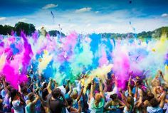 The beautiful festival of colours. One summer. Four Cities. 25.000 colourful guests  Who has been to Holi Festival?