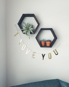 Hexagon Shelving by LynzeesLetters on Etsy