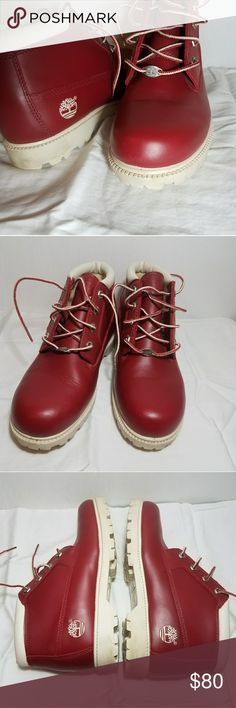 Timberland Oringinal Nellie Chukka Red Vintage Red, stunning an excellent perfect condition Nellie chukka Timberland original vintage boots Timberland Shoes