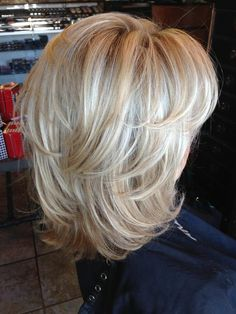Pin on Another great hair cut! Pin on Another great hair cut! Medium Layered Hair, Medium Hair Cuts, Short Hair Cuts, Medium Hair Styles, Curly Hair Styles, Medium Bobs, Blonde Layered Hair, Shoulder Length Layered Hair, Medium Shag Haircuts