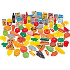 Buy Chad Valley 104 Piece Play Food Set at Argos.co.uk - Your Online Shop for Cooking role play, 2 for 15 pounds on Toys, Toys under 10 pounds.