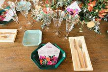 Colorful geometric wedding inspiration