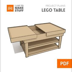 I just posted the plans for last weeks project video the Lego build table! Get the plans at iliketomakestuff.com by iliketomakestuff