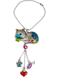 Our Felicity Kitty Car Charm is no back-seat driver -- she's a copilot who dresses up your rear-view mirror and keeps you smiling all the way down the highway. And we guarantee she'll never nag you about needing to use the litter box!