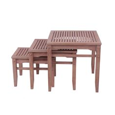 Shop for Cambridge Casual Astoria 3 piece Nesting Table. Get free delivery On EVERYTHING* Overstock - Your Online Garden & Patio Shop! Small Tables, Side Tables, Outdoor Tables, Outdoor Decor, Nesting Tables, Teak, Cambridge, Table Settings, Dining Table