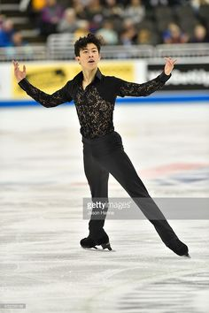 Nathan Chen skates his routine that would earn him first place in the short routine championship on Day 2 at the 2017 US Figure Skating Championships on January 20, 2017 at the Sprint Center in Kansas City, Missouri.