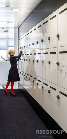 Whiteboard Lockers - Compass Group office in Switzerland by RBSgroup.