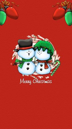 Snowman Couple Christmas iPhone 6 & iPhone 6 Plus Wallpaper
