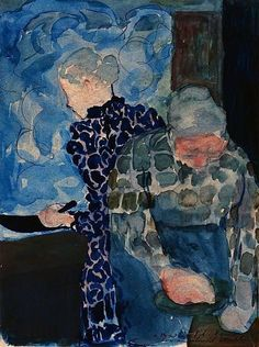 Edouard Vuillard - Deux Femmes dans Interieur Sending art that you know a love one will appreciate is a great creative card idea. Pierre Bonnard, Edouard Vuillard, Figure Painting, Painting & Drawing, Monet, Modern Art, Contemporary Art, Figurative Kunst, Post Impressionism