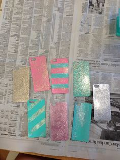 get a clear iPhone case and cut out construction paper in the shape of the phone. Paint, glitter & decorate and put inside the clear case. Voila! Personalized, creative iPhone cases CHEAP! The possibilities are endless #diy