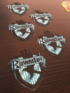 Ravenclaw edible cupcake toppers