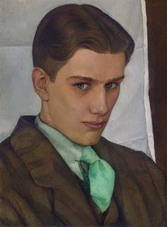 """Luigi Lucioni, """"Portrait of Paul Cadmus"""" (1928) / repinned on Toby Designs"""