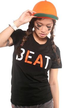 Beat LA (Women's Black/Orange Tee) http://adaptadvancers.myshopify.com/collections/womens-classic-tees/products/beat-la-womens-black-tee