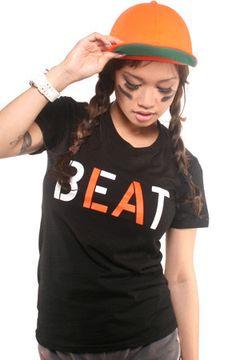 Beat LA (Women's Black/Orange Tee) http://adaptadvancers.myshopify.com/collections/womens-classic-tees/products/beat-la-womens-black-tee