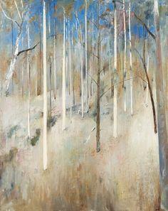 Arthur Boyd (Australian, Hillside (Shoalhaven), Canvas, 152 x 122 cm. Abstract Landscape Painting, Landscape Art, Landscape Paintings, Painting Trees, Abstract Art, Australian Painting, Australian Artists, Arthur Boyd, Watercolor Pictures