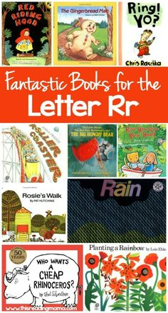 Fantastic Books for the Letter R - Letter R Book List by This Reading Mama