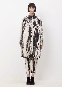 MM6 Maison Margiela Garment Dyed Work Jacket (Black Batik)
