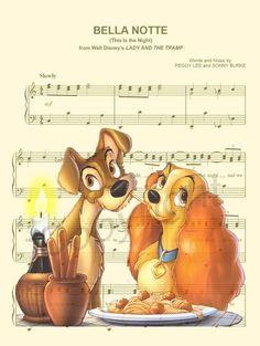 Lady et le clochard Spaghetti partition de musique par AmourPrints Art Disney, Film Disney, Disney Images, Disney Songs, Disney Crafts, Disney Pictures, Disney Love, Disney Couples, Disney Sheet Music