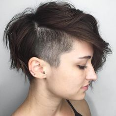 Long Choppy Pixie With Temple Undercut