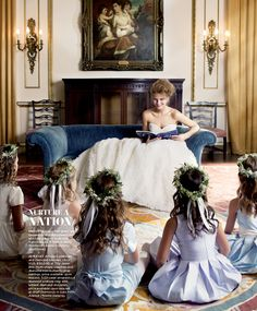 Wedding Gowns Fit For a First Lady: As mistress of the manor, our bride dons the gowns of the season with grace and style.