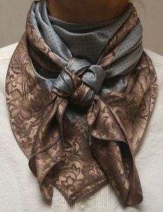 Cowboy Images Combo Scarf - Accessories of Women Ways To Tie Scarves, Ways To Wear A Scarf, How To Wear Scarves, Square Scarf How To Wear A, Square Scarf Tying, Scarf Knots, Scarf Wrap, Cowboy Images, Mode Outfits