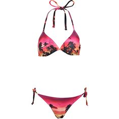 f2b72852be398 Miss Selfridge Hawaiian Print Bikini ( 18) ❤ liked on Polyvore featuring  swimwear