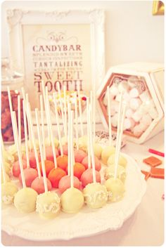 Cute Candy Bar idea for the baby shower