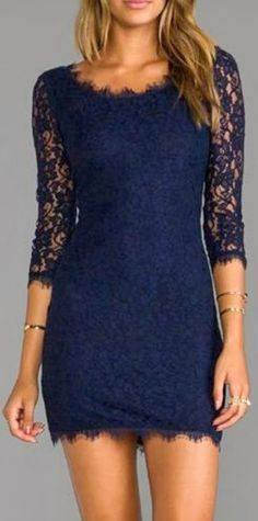 Lace detail scoop dress fashion style