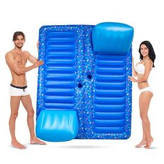 Sol Coastal Face to Face Swimming Pool Inflatable Lounge Raft with Cup Holders, White Lake Rafts, Pool Rafts, Pool Schwimmt, Pool Fun, Lake Floats, Pool Floats For Adults, Pool Shapes, Pool Lounge, Pool Toys