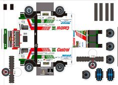 Free Download Paper Model Trucks | daf 433 1998 - Maquette Dakar