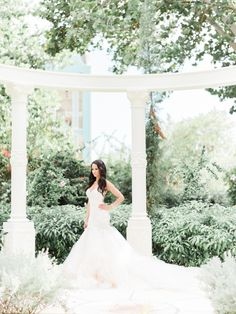 White Galia Lahav wedding gown: Photography: Ether & Smith - www.etherandsmith.com   Read More on SMP: http://www.stylemepretty.com/2016/08/24/white-color-palette-jamaica-destination-wedding/