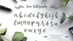 Faux Calligraphy Hand Lettering Workshop - Die Basics - Lettering by mj