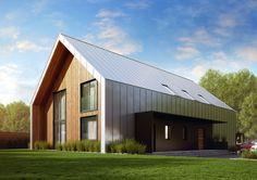 Modern barn house.  Side entrance