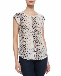 Iva Leopard-Print Silk Blouse by Joie at Neiman Marcus.