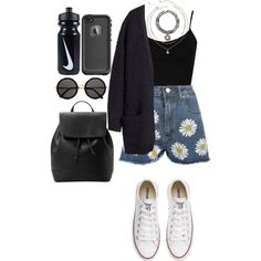 Day in the sun by ziamsangelz on Polyvore featuring polyvore, мода, style, H&M, Topshop, WearAll, Converse, MANGO, Carole, The Row, LifeProof and NIKE