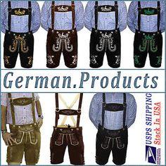 Lederhosen authentic german bavarian oktoberfest trachten mens short lederhosen