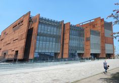 The European Solidarity Centre - a museum devoted to legendary Solidarnosc  movement - Gdansk, Poland. Here the view outside