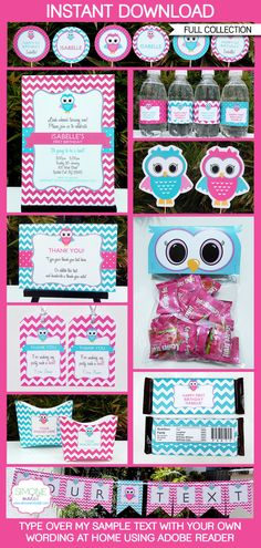 Owl+Birthday+Party++INSTANT+DOWNLOAD+full+Birthday+by+SIMONEmadeit,+$14.95